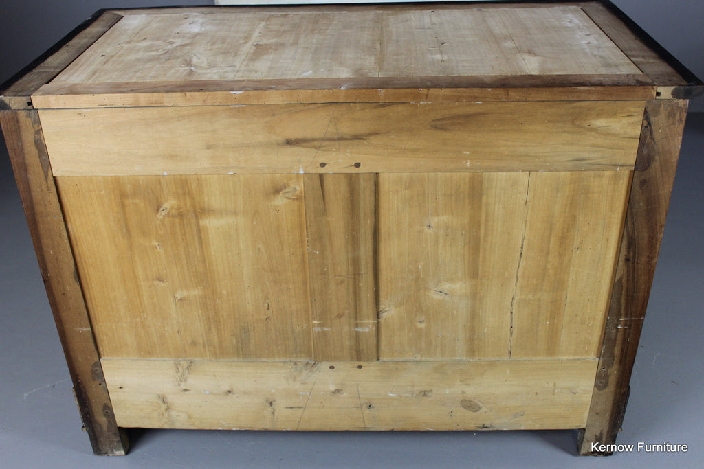 Empire Style Walnut Commode - Kernow Furniture