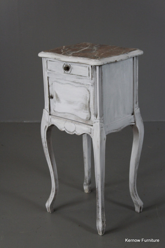 Painted French Bedside Cabinet - Kernow Furniture