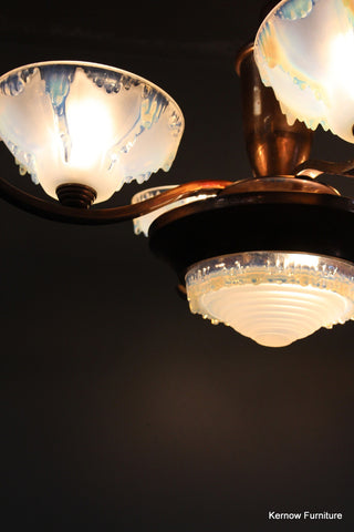 French Deco Ezan Chandelier - Kernow Furniture