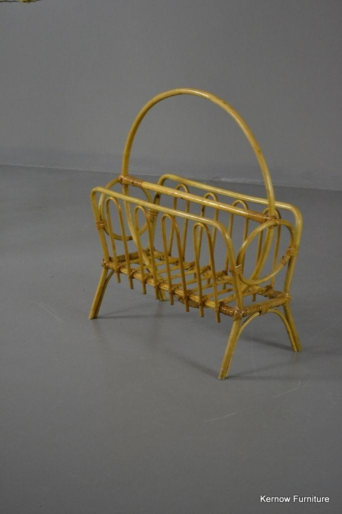 Retro Cane Magazine Rack