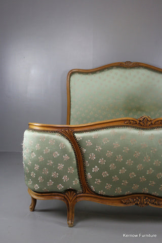 Upholstered French Bed - Kernow Furniture 100s vintage, retro & antique items in stock