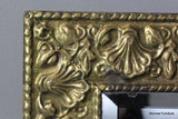 Pressed Brass Rectangular Mirror - Kernow Furniture