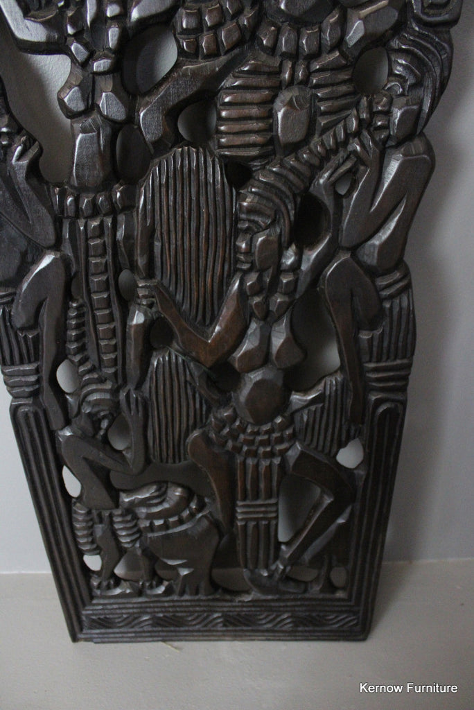Carved African Wall Panel - Kernow Furniture