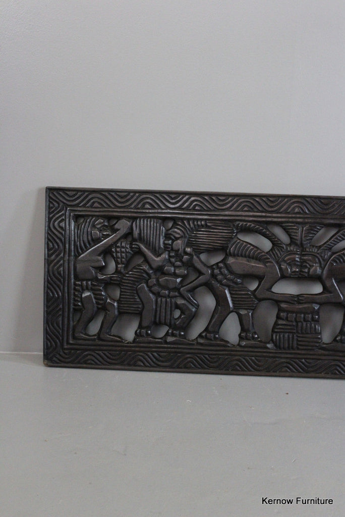 Carved African Decorative Panel - Kernow Furniture