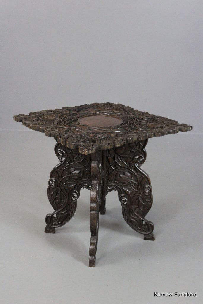 Antique Indian Side Table - Kernow Furniture