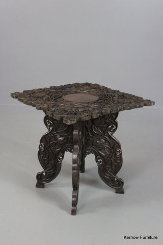 Antique Indian Side Table - vintage retro and antique furniture