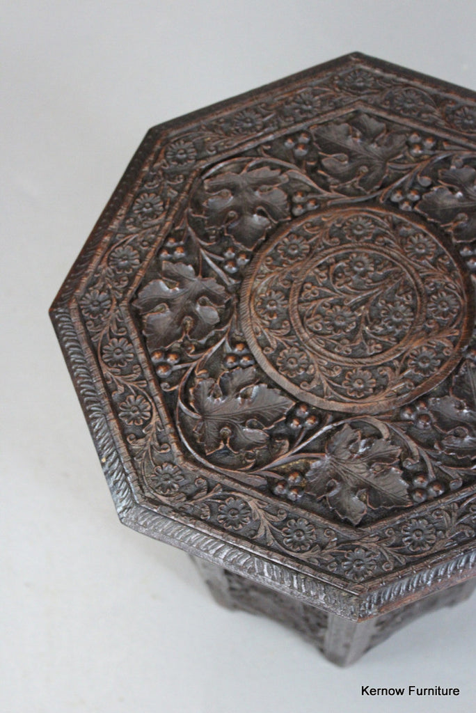 Small Eastern Carved Table