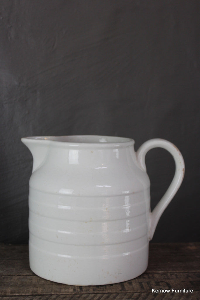 Large White Edwardian Milk Jug