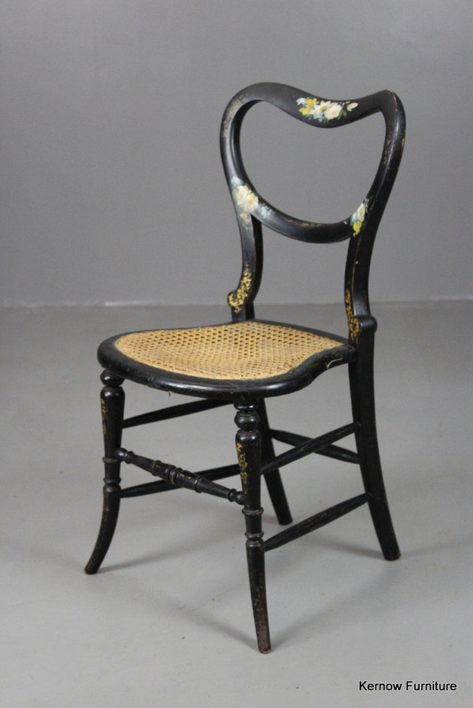 Antique Ebonised Occasional Chair - vintage retro and antique furniture