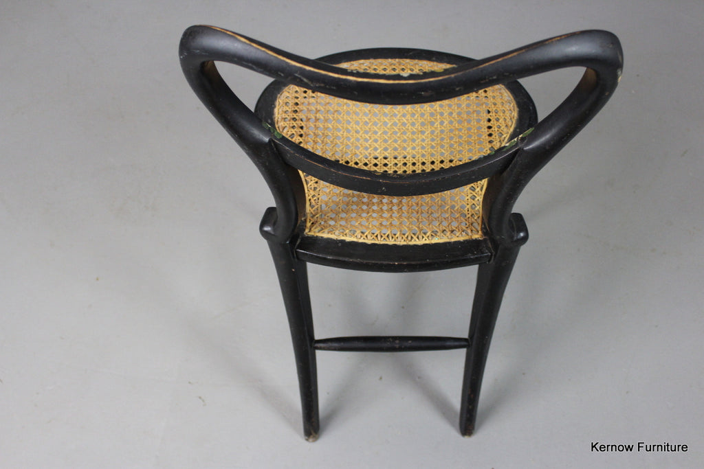 Antique Ebonised Occasional Chair - Kernow Furniture