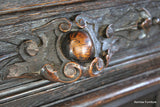 French Carved Hunt Cabinet - Kernow Furniture