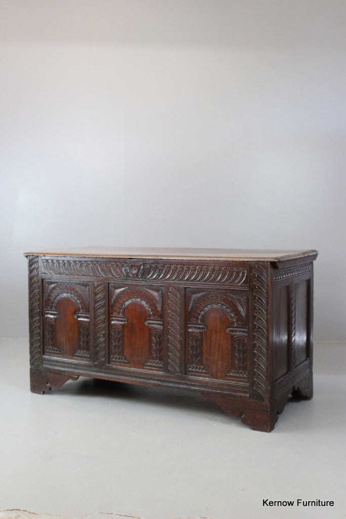 Antique Oak Coffer - vintage retro and antique furniture