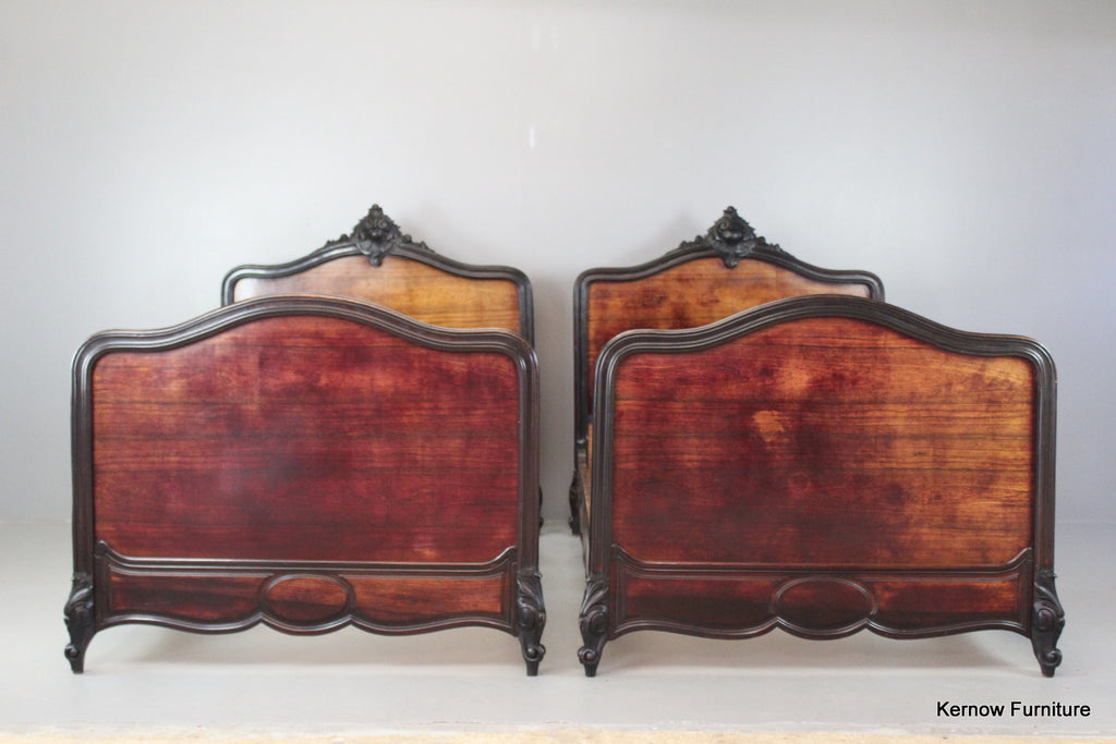 Pair Antique French Rosewood Beds