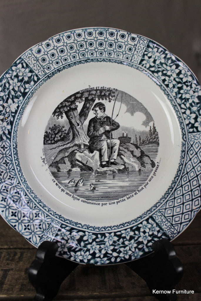French Decorative Plate - Kernow Furniture