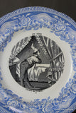 French Blue & White Transferware Plate