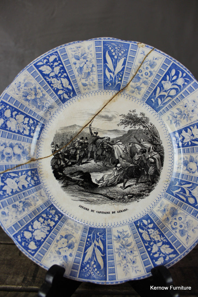 French Transferware Plate - Kernow Furniture