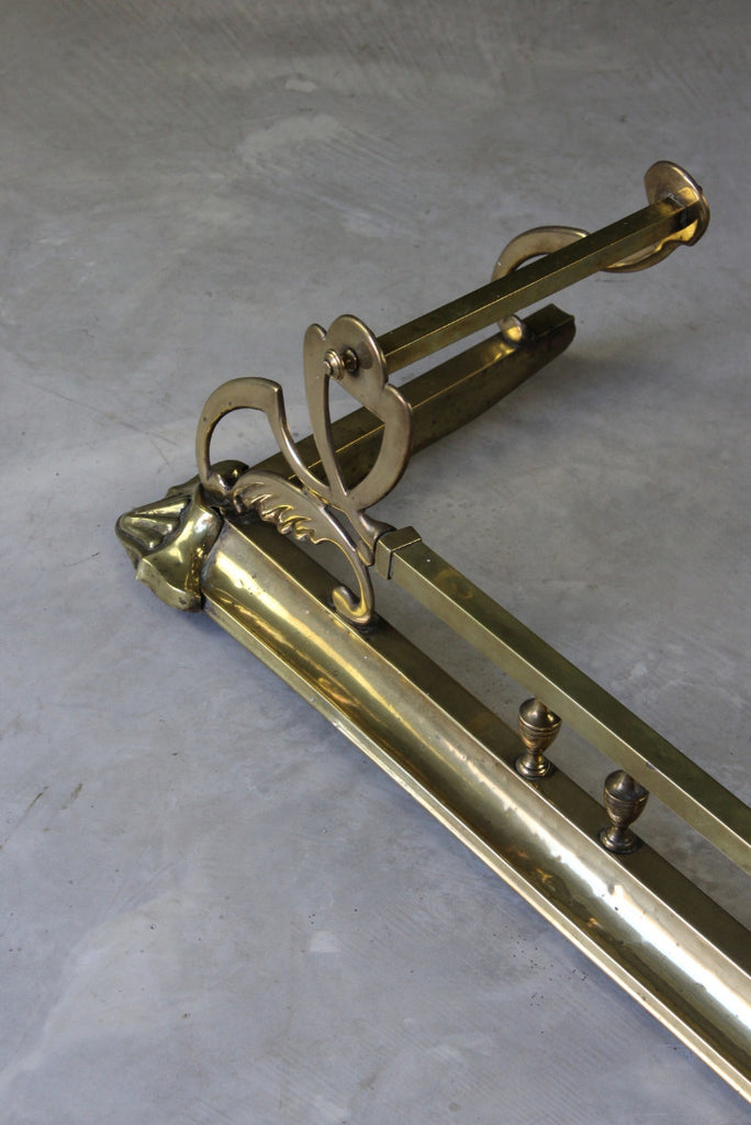 Art Nouveau Brass Fire Fender - Kernow Furniture