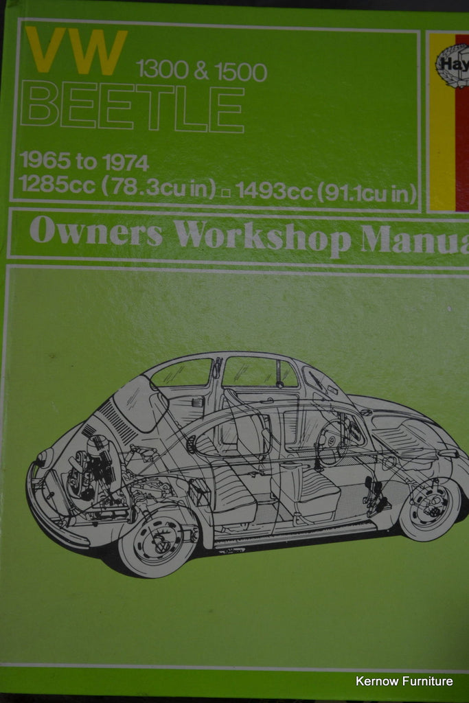 VW Beetle Owners Workshop Manuals - Kernow Furniture 100s vintage, retro & antique items in stock