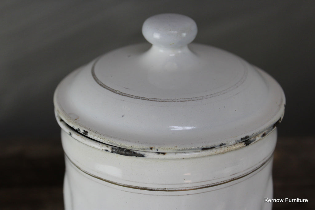 French Enamel Cafe Jar - Kernow Furniture