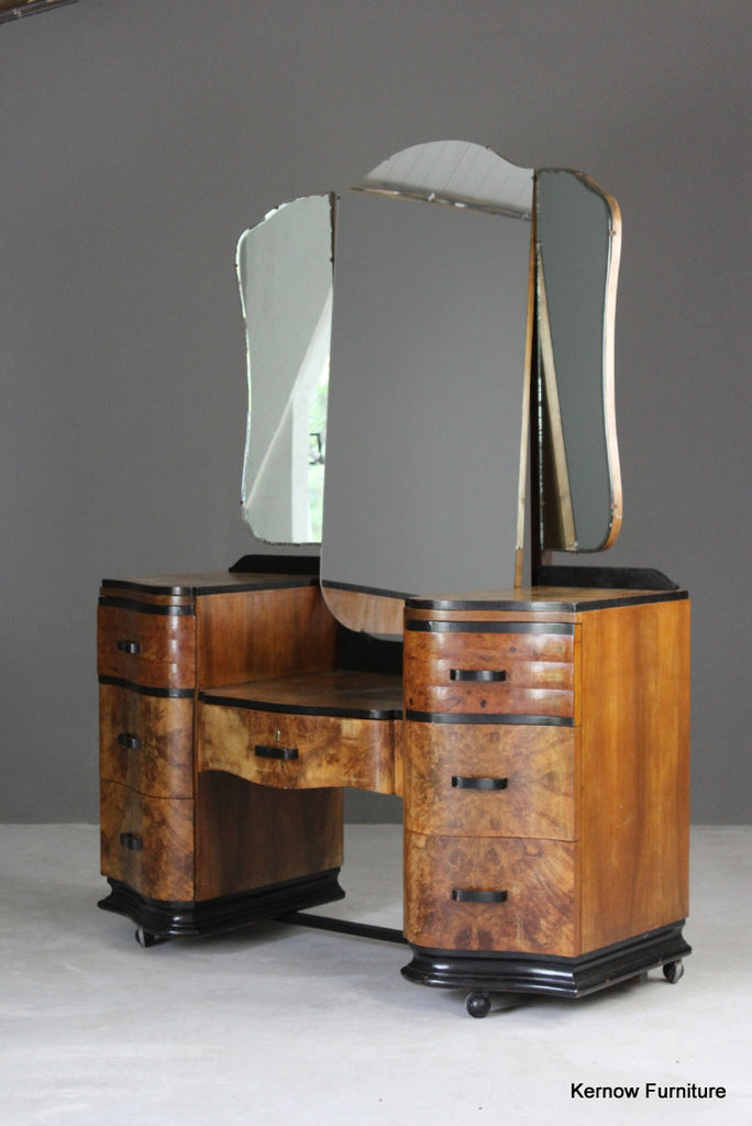 Art Deco Dressing Table - vintage retro and antique furniture