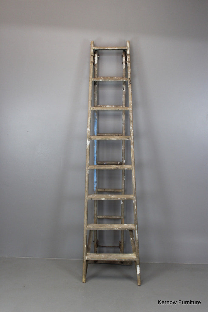 Large Wooden Ladder - Kernow Furniture