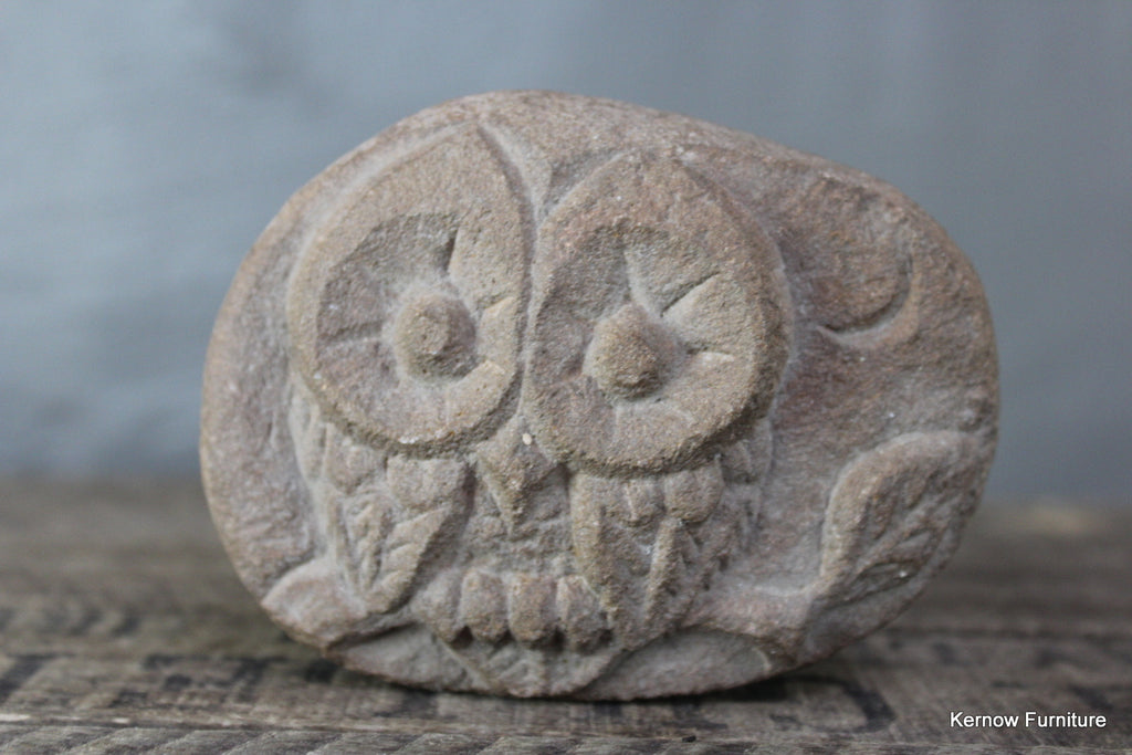 Carved Owl Paper Weight - Kernow Furniture
