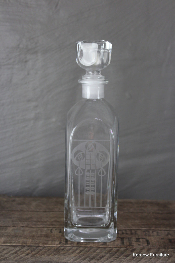 Etched Glass Decanter - Kernow Furniture