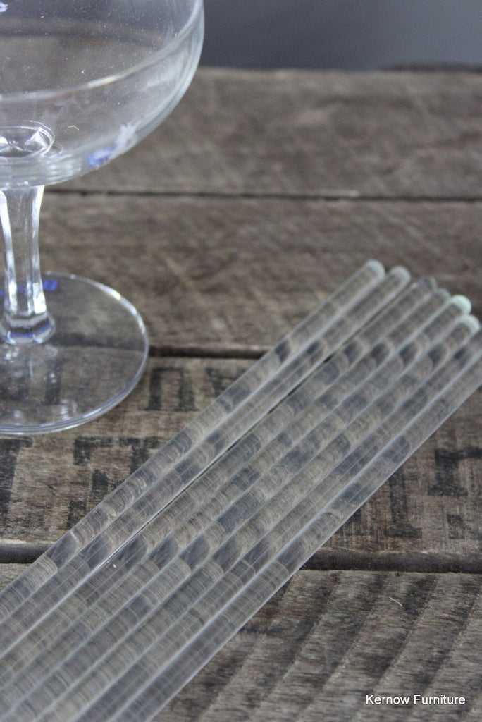 8 Glass Cocktail Stirrers - vintage retro and antique furniture