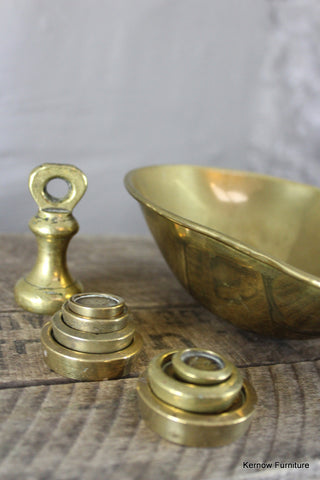 Brass Pan & Weights
