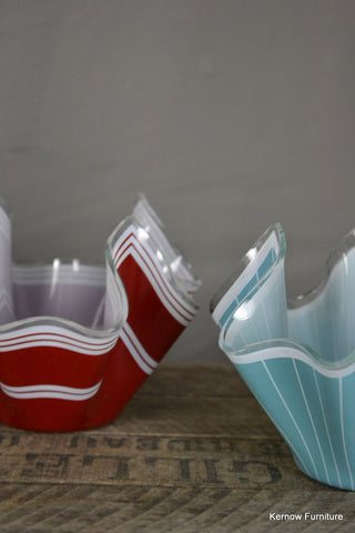 Pair Chance Glass Hankerchief Bowls - Kernow Furniture 100s vintage, retro & antique items in stock