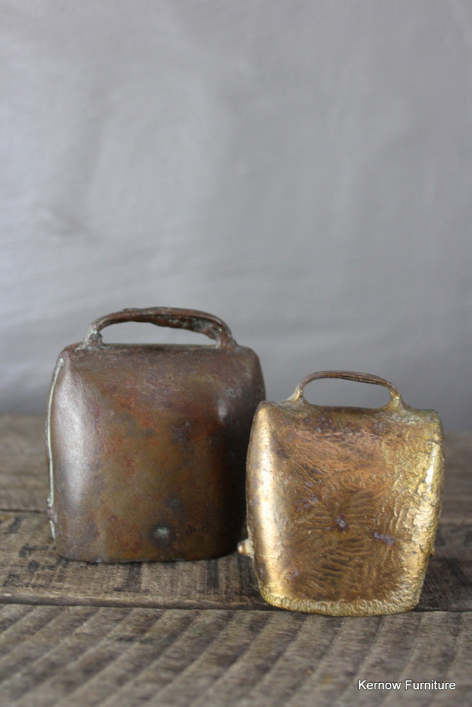 Pair Vintage Cow Bells