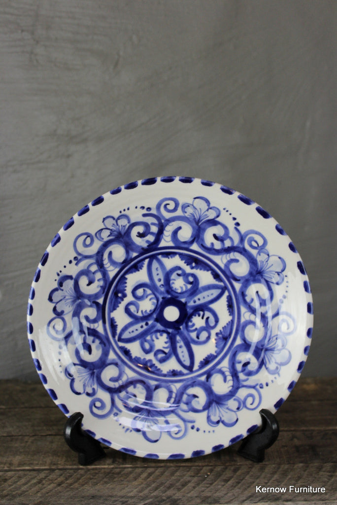 Blue & White Plate - vintage retro and antique furniture
