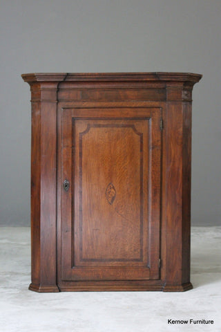 Georgian Oak & Mahogany Corner Cupboard