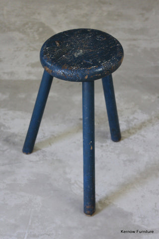 Antique Elm Stool - vintage retro and antique furniture