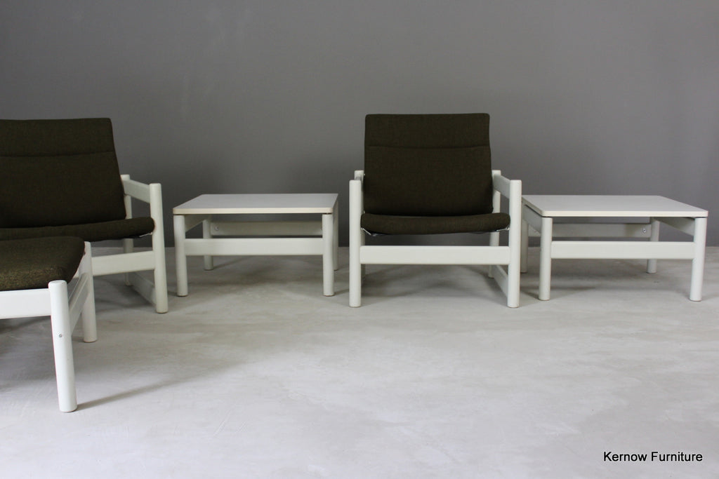 Retro Easy Chair & Table Set - Kernow Furniture