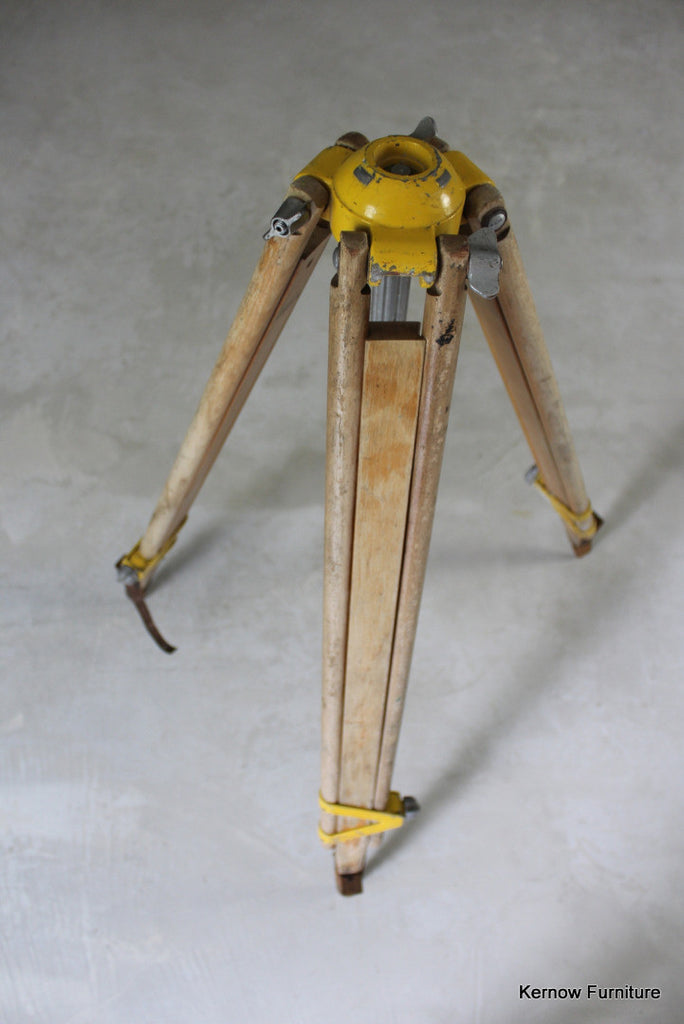 Vintage Wooden Surveyors Tripod - Kernow Furniture