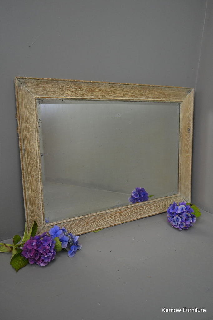 Limed Oak Large Overmantle Mirror - Kernow Furniture 100s vintage, retro & antique items in stock