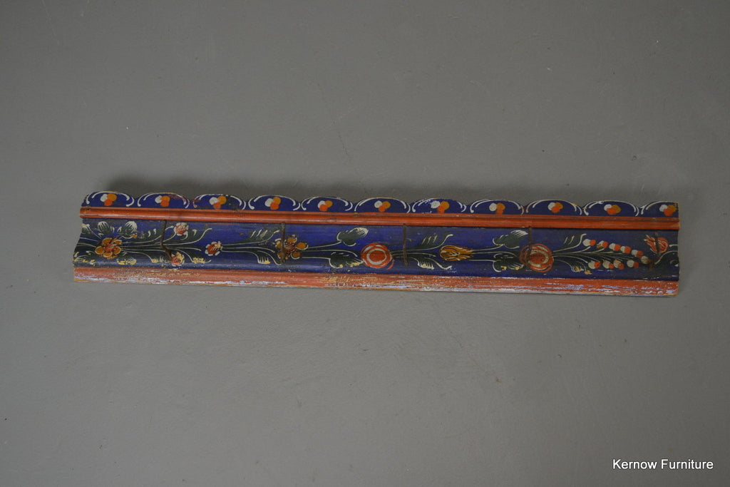 Vintage Folk Painted Coat Hooks - Kernow Furniture