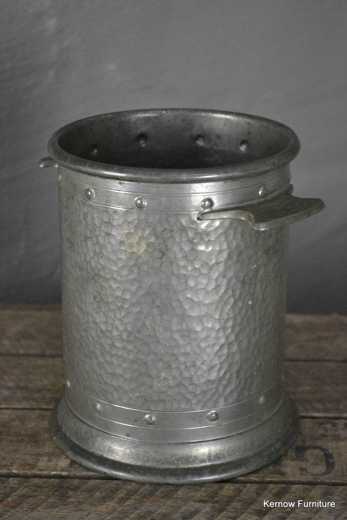 Hammered Pewter Wine Cooler - Kernow Furniture 100s vintage, retro & antique items in stock