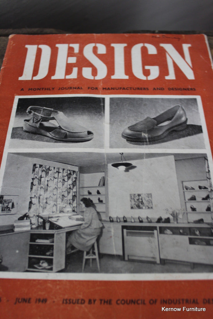 Design Magazine No 6 1949 - Kernow Furniture