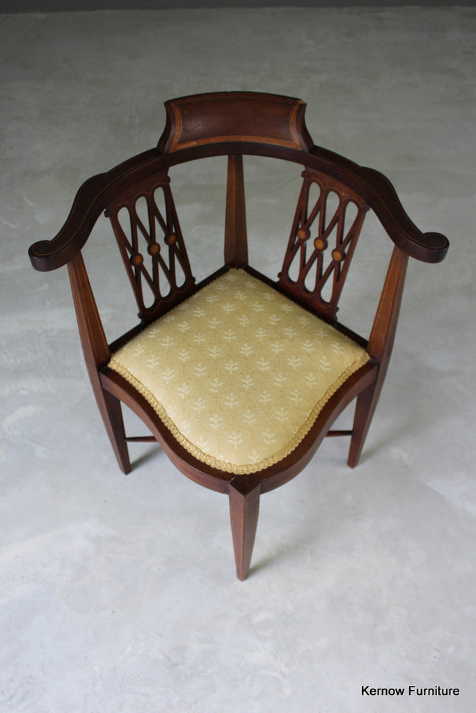 Antique Corner Chair - vintage retro and antique furniture
