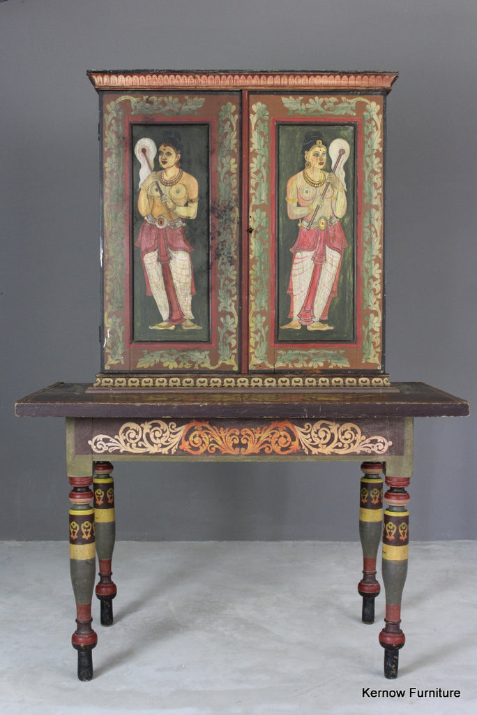 Painted Indian Cabinet