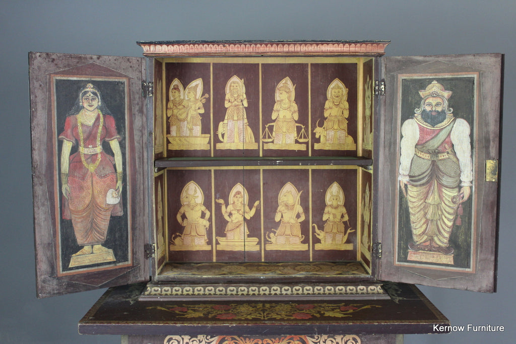 Painted Indian Cabinet - Kernow Furniture