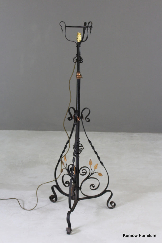 Ornate Wrought Iron Standard Lamp