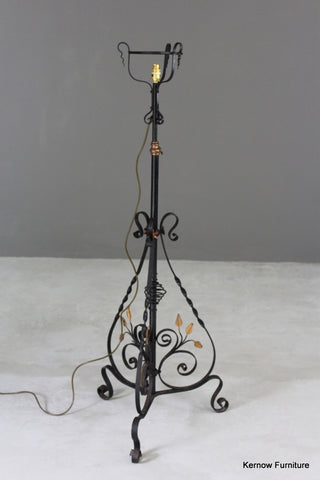 Ornate Wrought Iron Standard Lamp - Kernow Furniture