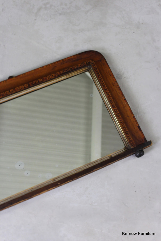 Edwardian Tunbridge Overmantle Mirror