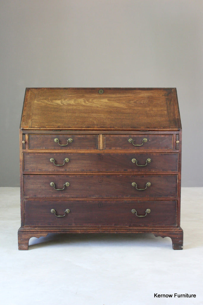 Antique Mahogany Writing Bureau - vintage retro and antique furniture