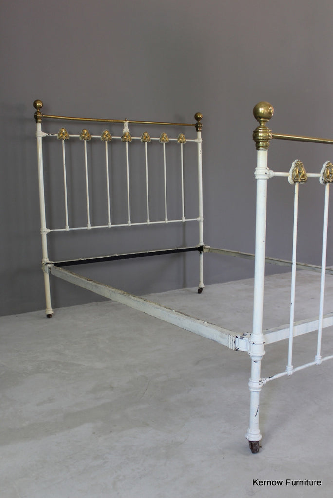 Art Nouveau Bed Frame - vintage retro and antique furniture