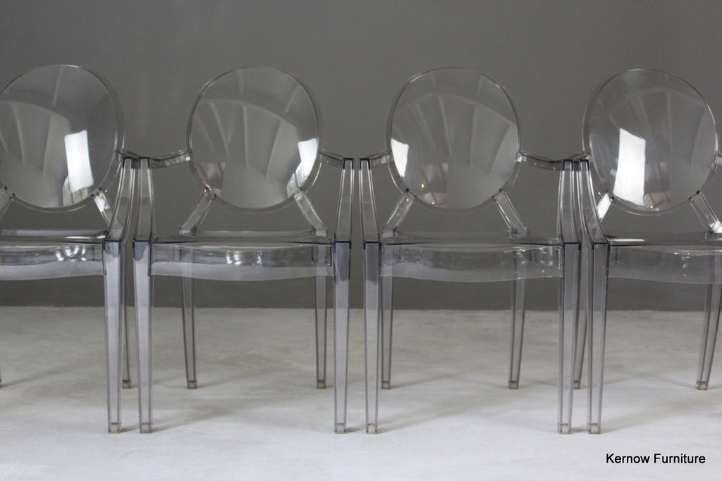 4 Kartell Ghost Chairs - vintage retro and antique furniture