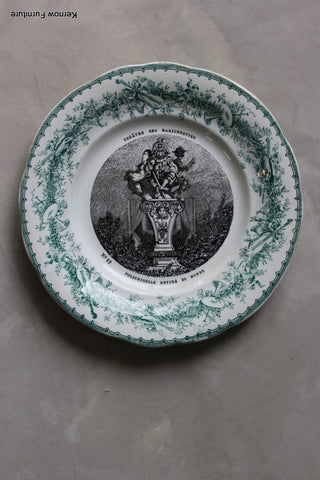 Creil Et Montereau Decorative French Plate